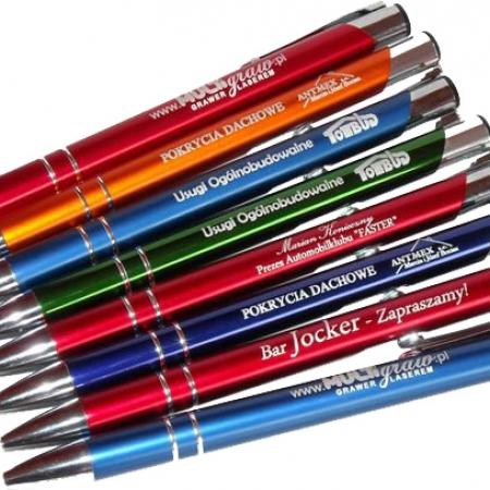 grawer na długopisach aluminiowych